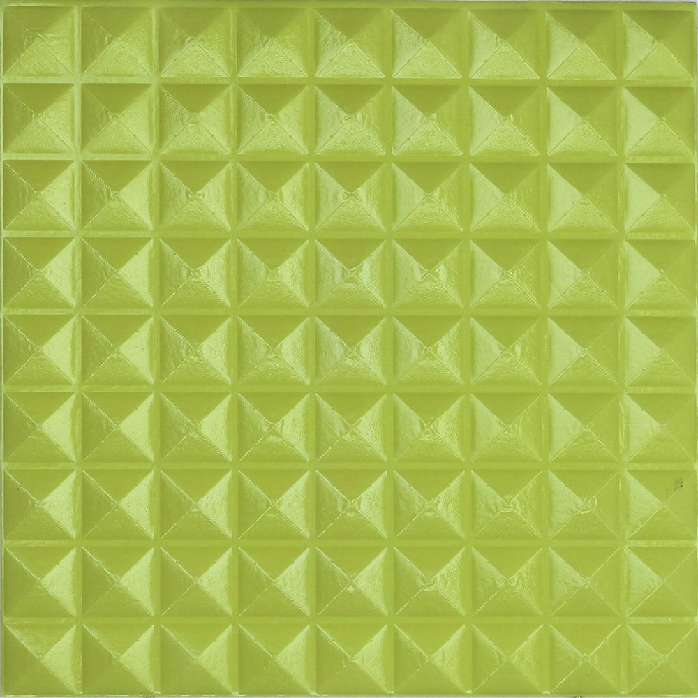 PE Foam Wall Sticker DIY Wallpaper Pyramid 3D Wall art Brick 30*30cm ...
