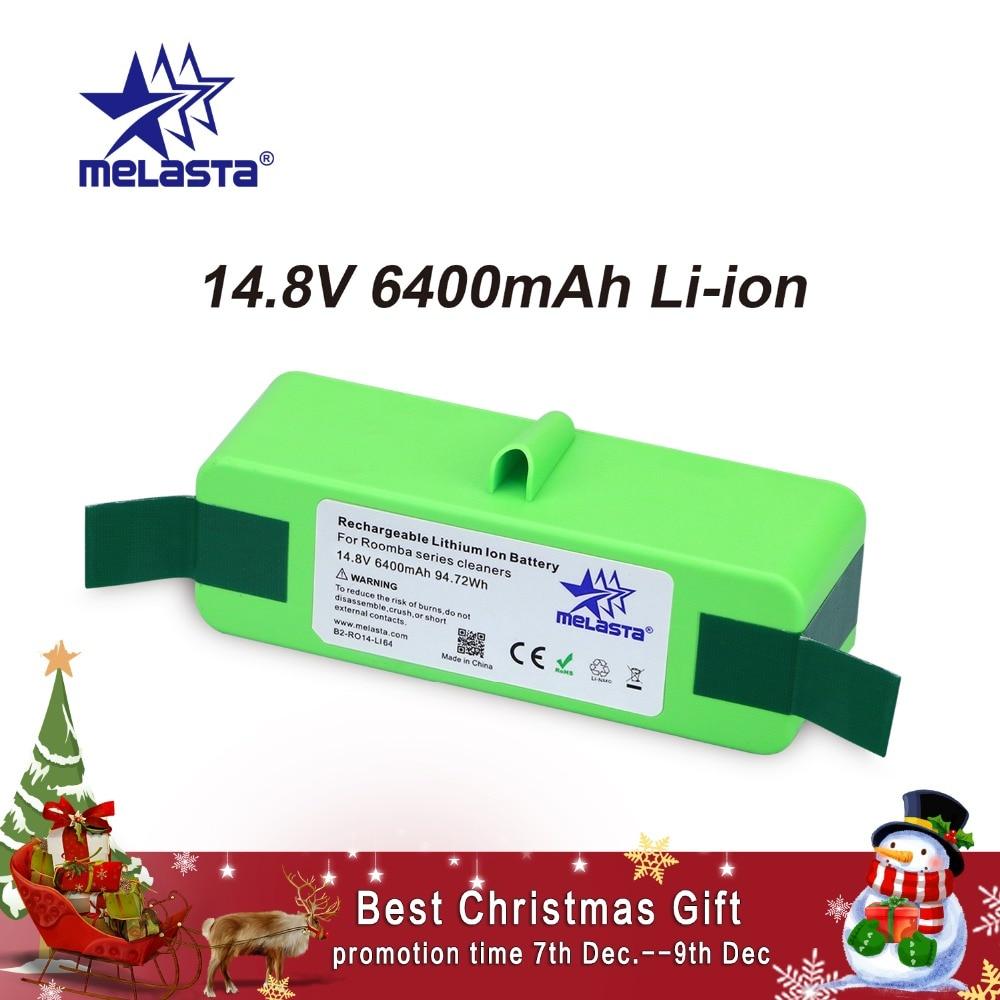 6.4Ah 14,8 v Li-Ion Batterie mit Marke Zellen für iRobot Roomba 500 600 700 800 980 Serie 510 530 550 560 650 770 780 870 880