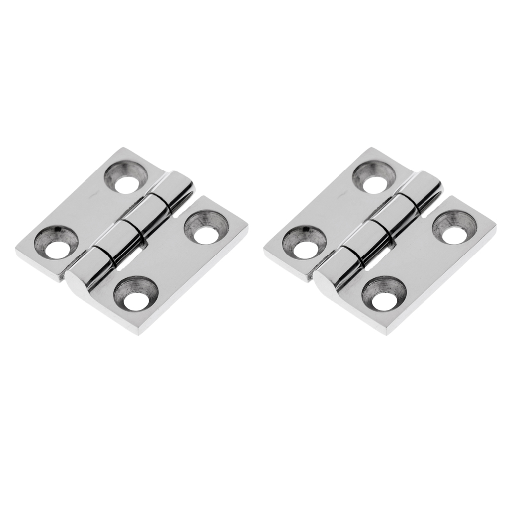 1 Pair Mirror Polished 316 Stainless Steel Boat Flush Door Cabin Hatch Compartment Hinge Strap 1-1/2' Marine Accessories