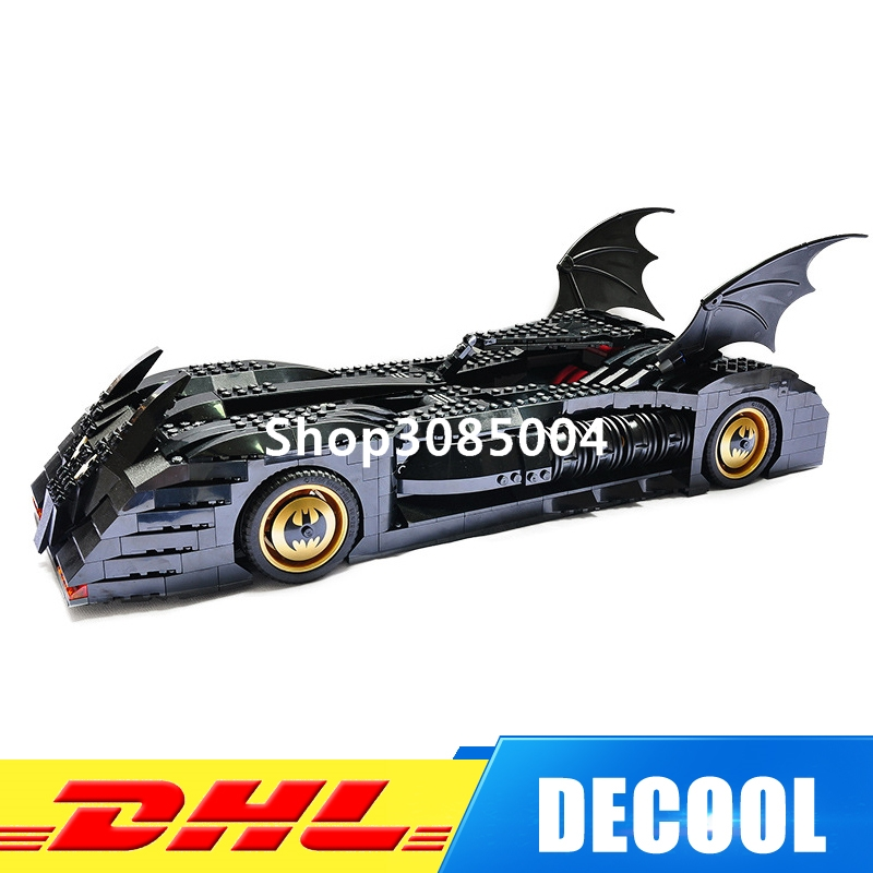 IN Stock DHL Decool 7116 Superhero Batman Batmobile Model building kits Clone city 3D blocks toys hobbies for children gift 7784 casio ltp v006d 7b