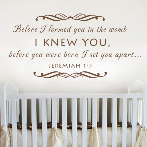 Baby Nursery Wall Decal Before I Formed You In The Womb