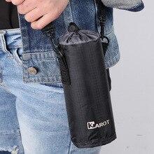 high quality black insulated barrel bottle thermal cooler bag drinks insulation carrier milk wine cool insulation shoulder bag