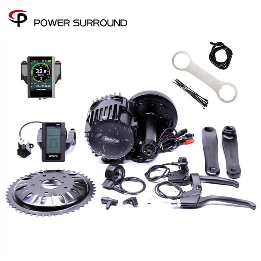 8fun/bafang 48V/52V 1000w BBS03 BBSHD electric bike motor kit for bottom bracket 68mm 100mm 120mm bike electric bike kit