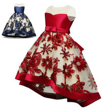 2-14 Knee-Length Kids Sequin Flower Girls Dress Kids Pageant Party Wedding Ball Gown Prom Princess Formal Occassion Girls Dress princess fluffy dress for girls pageant dress floral kids evening ball gown long girls prom dress pink party dress for girls
