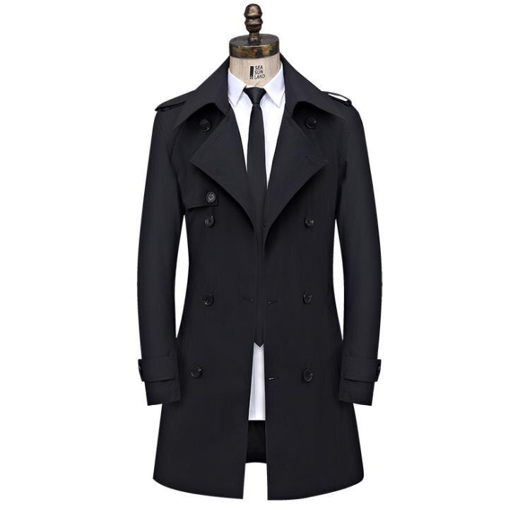 남성 트렌치 코트 가을 겨울 남성 롱 코트 자켓 비즈니스 캐주얼 더블 브레스트 자켓 플러스 사이즈 8xl 남성 남성 의류-에서트렌치부터 남성 의류 의  그룹 2
