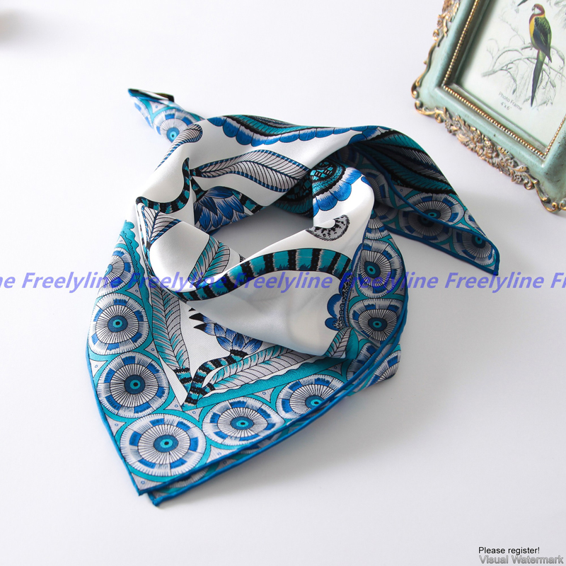 Printed Bandana Foulard Small Square Silk   Scarf   Neckerchief 100% Silk Twill   Scarf   Women Fashion Silk   Scarves   &   Wraps   Bag Scarfs