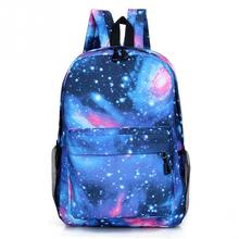 016d1a8b7964 Unisex Polyester Teenager School Bag Book Campus Travel Backpack Star Sky  Printed Backpack(China)