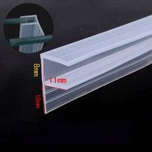 Осадка Excluder уплотнительная прокладка 8 мм стекло Бескаркасный экран душевая кабина двери окна балкона уплотнения 1 м F