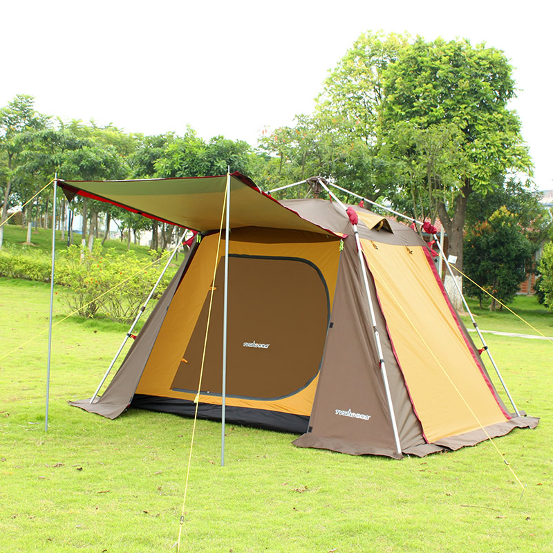Aluminum rod fully-automatic tent 3 - 4 outdoor camping beach casual double layer camping tent  otomatik çadır