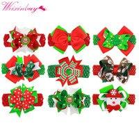 Girls Hair Clips Christmas Boutique Ribbon Hair Clip Barrettes Baby Bows Hairpins Children Hair Accessories 16