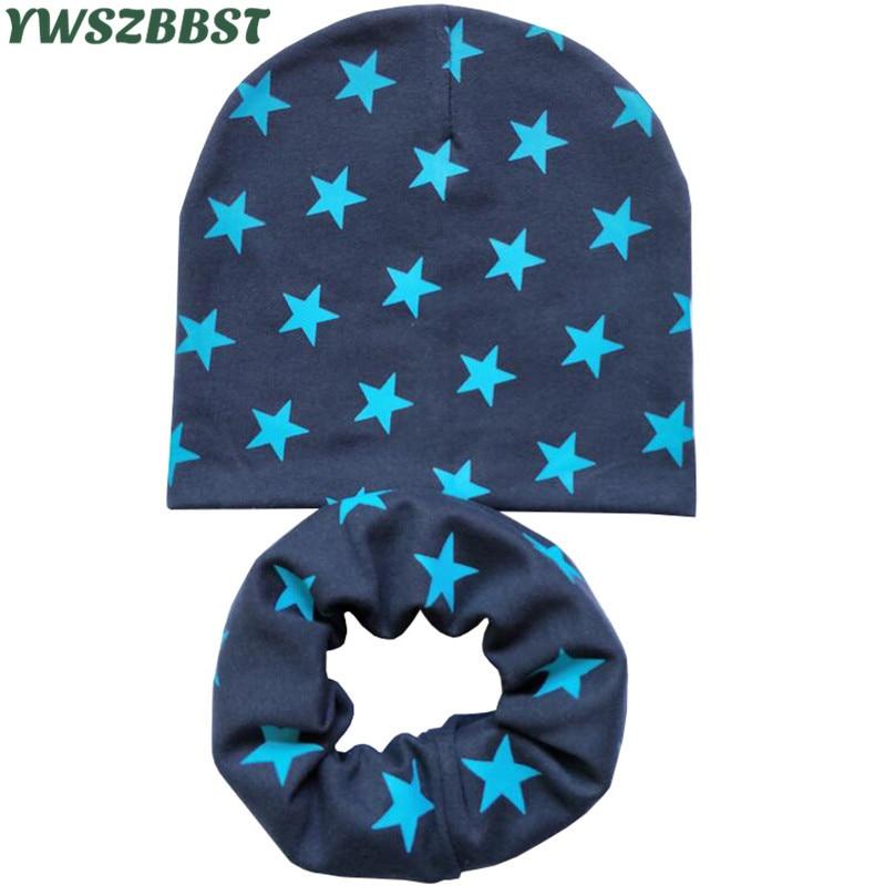 Nuovo Autunno Inverno Cotone Bambini Cappelli Set Stella Amore Cuore - Accessori per vestiti