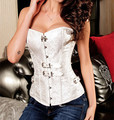 Free shipping Gothic Steam Punk Brocade Luxurious Jacquard waist sexy body Corset