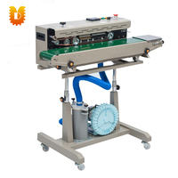 continuous manual puff snack sealing machine/snack bag sealer machine