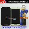 """Alta Qualidade da Tela de Toque e Display LCD Digitador Assembléia Para Motorola Moto G3 5.0 """"Celular Black/White Cor"""