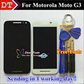 "High Quality Touch Screen and LCD Display Digitizer Assembly For Motorola Moto G3 5.0 "" Cellphone Black / White Color"