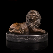 ATLIE Professional Seller High Quality sculptures Formidable lying Bronze Lion Statue home decoration chinese guardian lions