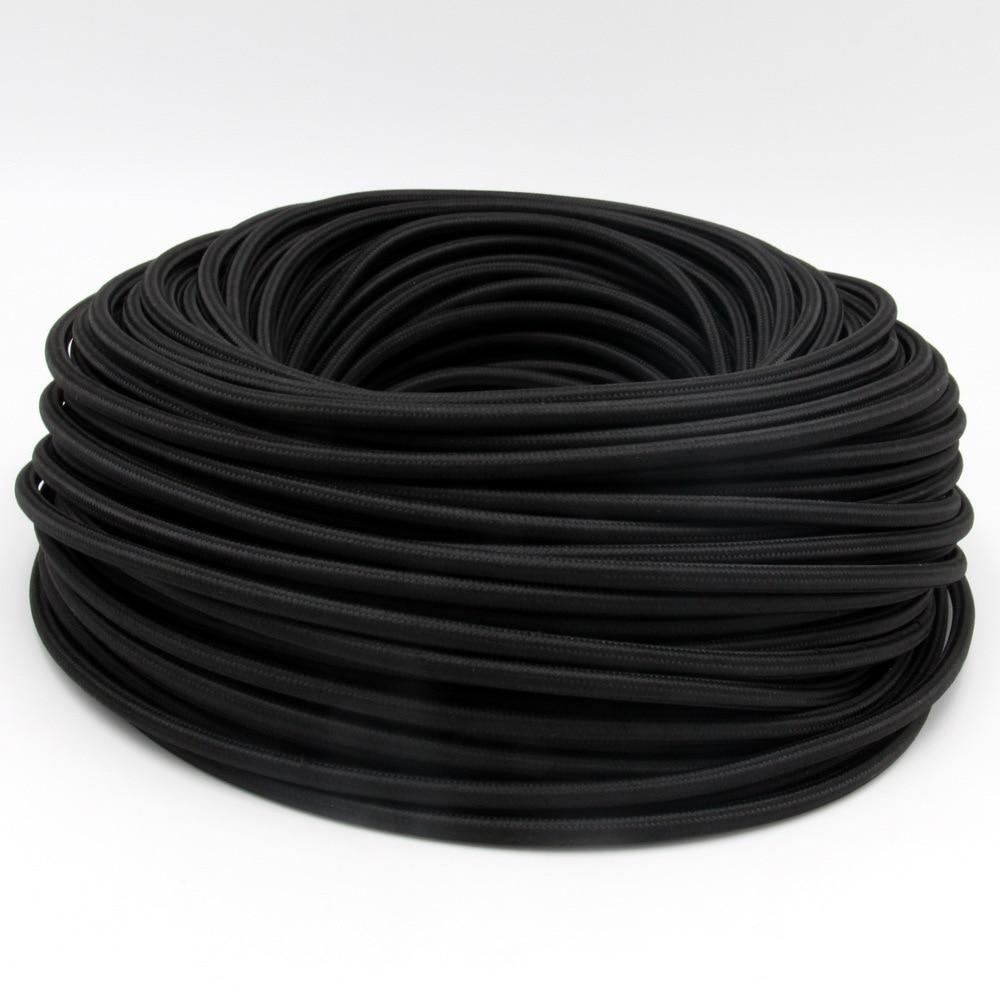 3 core 0.75mm2 tissu câble flexible cordon textile DIY vintage pendentif lumière fil électrique