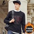 Pioneer Camp fleece hoodies men new autumn Winter fashion men brand clothing casual 100%cotton thicken male sweatshirt 699031