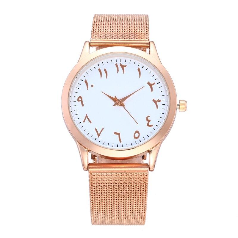 Top Brand Stainless Steel Mesh Watch Ladies Unique Arabic Numbers Watches Casual Women Men Quartz Wristwatches Relogio Feminino цена 2017