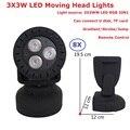Дистанционное управление  8 шт./лот  12 Вт  мини-лампы для мытья головы  высокое качество  3X3W RGB 3 вида цветов  светодиодные стробоскопические ог...