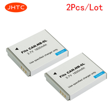 JHTC 2Pcs/lot 1600mAh NB-6L NB6L Battery for Canon Power-shot Camera SX520 HS SX530 SX600 SX610 SX700 SX710 IXUS 85 95 200 210
