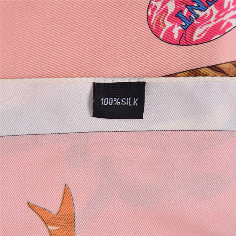 de811d130cd02 ... POBING Luxury Brand Silk Scarf Women Sky Lucky Birds Nest Print Square  Scarves Life Tree Large