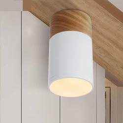 Nowoczesne Led korytarz u nas państwo lampy z korytarz wejściowy światła Yang japoński drewniane lampy sufitowe światło