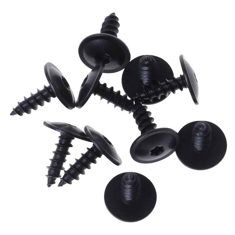 10pcs Engine Cover Undertray Splashguard Wheel Arch Torx Screw For V-W Audi 5x16mm Clips