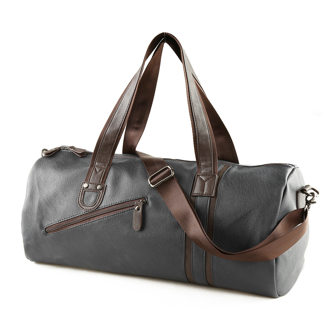 08834d2f097df7 Large Capacity Outdoor Men's Sports Bag PU Leather Tote Duffel Bag  Multifunction Portable Travel Sports Gym Fitness Bag