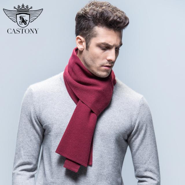 2016 Preventa de Grado Superior de Moda Para Hombre de Color Sólido de la Cachemira Bufanda De Lana Bufanda de Lana Caliente Abrigos Para Hombres