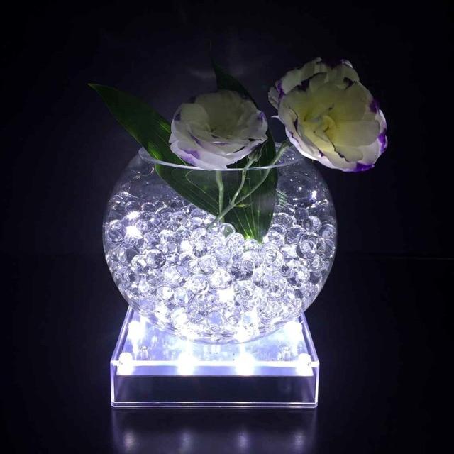 5 Inch 16 Leds Square Shape Led Vase Base Light Undervase Base Light
