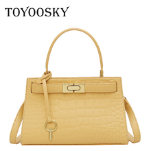 купить TOYOOSKY Stone Pattern Crossbody Bags For Women 2019 Small PU Leather Handbags New Designer Ladies Shoulder Messenger Bag дешево