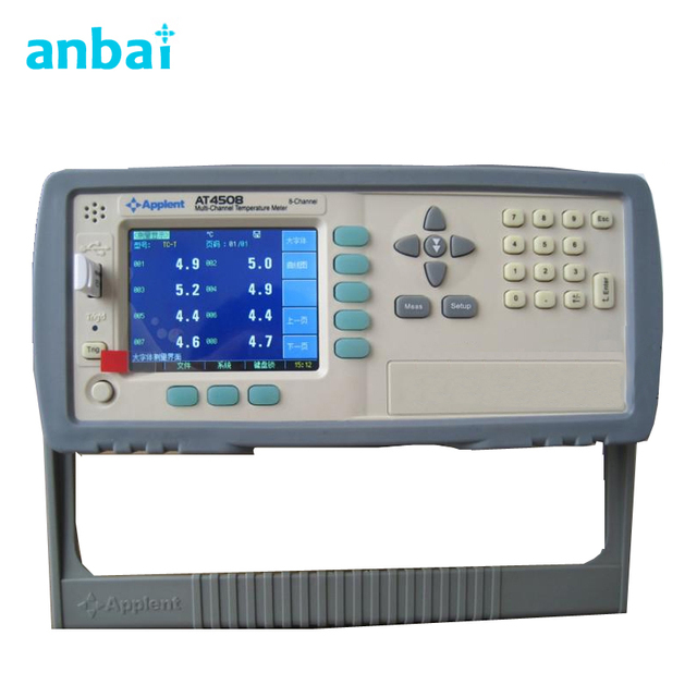 8 Channels Multi-Channel Temperature Data Logger ,High Accuracy Digital Thermometer for Power Supply with LCD Display AT4508