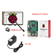 Cheaper Raspberry Pi 3 Model B Board+3.5 LCD HDMI Screen Monitor Display TFT LCD Module 1920×1080+5V 2.5A Power Supply