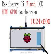 7-дюймовый ЖК-резистивный сенсорный экран Raspberry pi HDMI 1024X600 7-дюймовый tft-дисплей gpio сенсорный экран