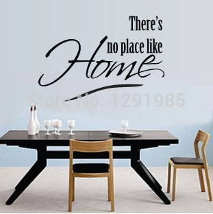There S No Place Like Home Art Wall Quotes Removable Pvc Sticker Decor Decals Diy