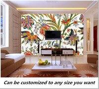 Free shipping custom 3D Abstract Floral Pattern Wall Mural Wallpaper fresco TV Bedroom Sofa backdrop wallpaper
