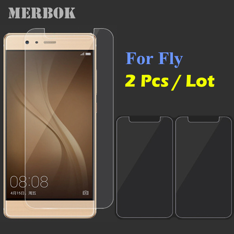 2Pcs/Lot 9H 2.5D 5.0 inch Tempered Glass Screen Protector For Fly FS514 Cirrus 8 / FS 514 Cirrus8 Screen Protector Film