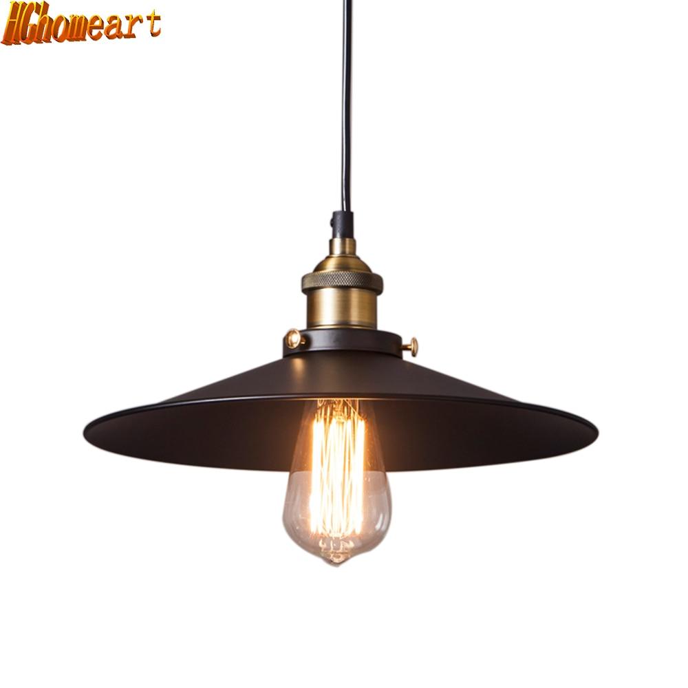 Luminaria estaurant Rétro E27 Led Lampes Suspendues Style Industriel edison vintage lumière Américain Pays Salle À Manger Pendentif Lampe