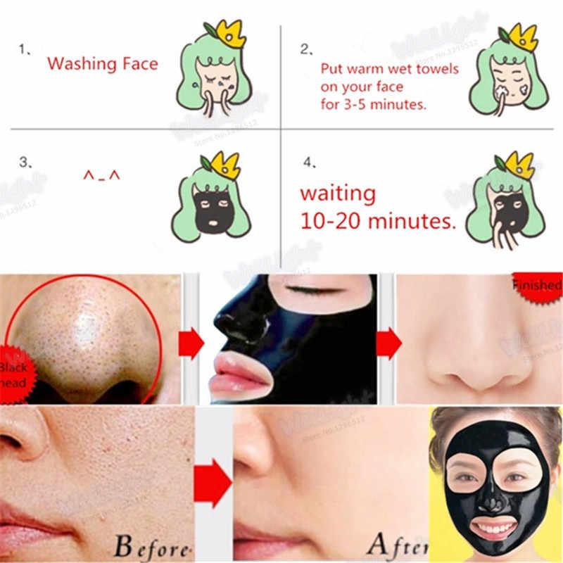 Grosir Hitam Kepala Perawatan Jerawat Perawatan Wajah Mengupas Hisap Masker Hidung Blackhead Remover Peel Off Bambu arang Masker