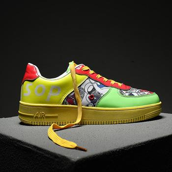 Męskie buty męskie codzienne buty płócienne moda lekkie Graffiti sznurowane buty sportowe letnie oddychające płaskie buty męskie buty obuwie męskie tanie i dobre opinie Bravover Brak Tkane Przypadkowi buty Lato NONE Dla dorosłych Lace-up Podstawowe Oddychająca Pasuje prawda na wymiar weź swój normalny rozmiar