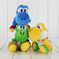 17CM Super Mario Bros Green Yoshi Plush Stuffed toys Dolls Mario Plush Toys Red Blue Yoshi Dolls Free shipping