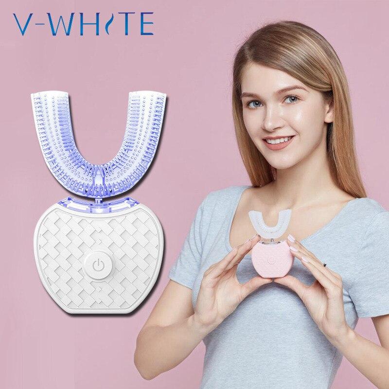 Auf lager! Oral Hygiene Voll automatische wiederaufladbare elektrische zahnbürste Ultraschall 360 grad intelligente automatische zahnbürste-in Zahnbürsten aus Haar & Kosmetik bei  Gruppe 3
