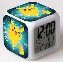 Pokemon Go Color Changing LED Digital Alarm Clock Lighting Toy Kid's Xmas Gift B