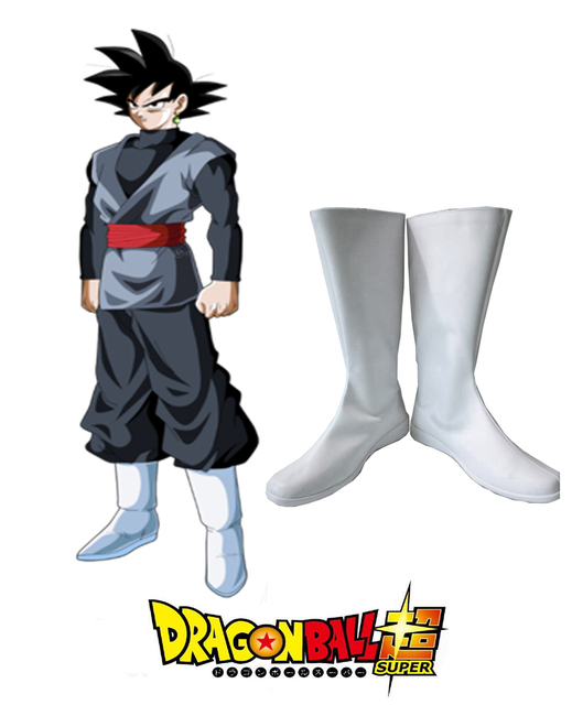 Dragon Ball Super Goku Black White Boots Anime Cosplay Shoes