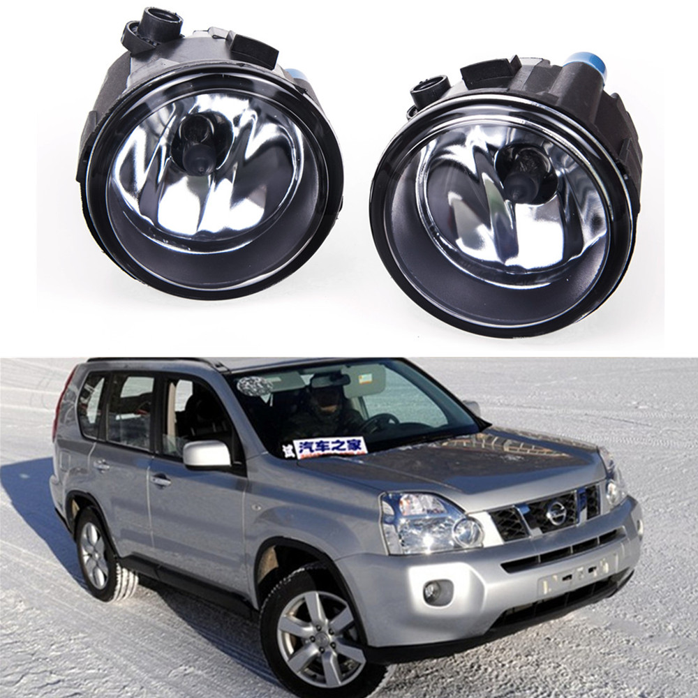 For Car styling Fog lights NISSAN X-Trail T31 Closed Off-Road Vehicle 2007-2014 halogen lamps 1SET 26150-8990B car styling led fog lights for mitsubishi pajero iv v8 w v9 w closed off road vehicle 2007 2012 fog lamps 10w drl 1set