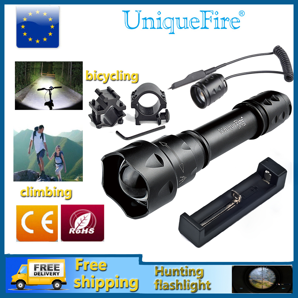 UniqueFire Svjetiljka 1200 LM XM-L2 LED Svjetiljka, Vanjska - Prijenosna rasvjeta