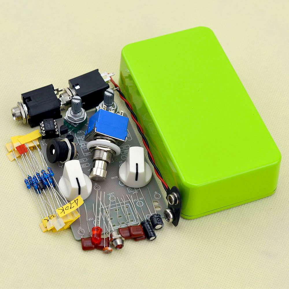 DIY Compressor Effect Pedal All Kits With 1590Bl Green Full Metal Shell True Bypass Free Shipping free shipping k5 metal shell