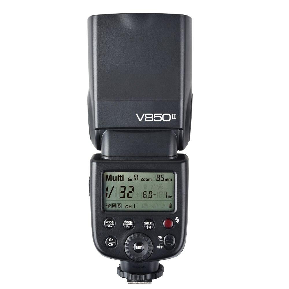 Godox V850II GN60 Беспроводная система x 2.4g Speedlite w/литий-ионный Батарея вспышкой для цифровых зеркальных камер Canon Nikon Pentax Olympus