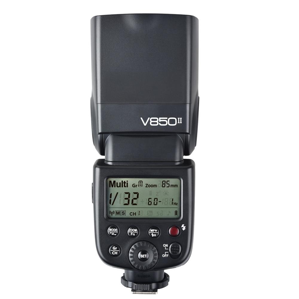 цена на Godox V850II GN60 2.4G Wirless X System Speedlite w/ Li-ion Battery Flash Light for Canon Nikon Pentax Olympus DSLR Cameras